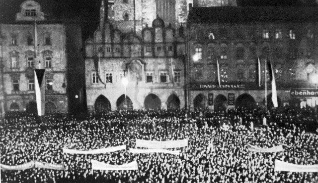A demonstration in support of national independence. Prague. September, 1938